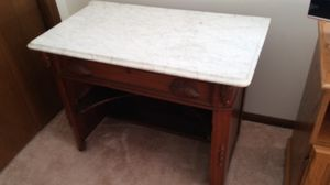 Cherrywood Marble Top Antique Desk for Sale in New Lenox, IL