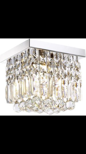 """Hallway Crystal Chandelier 1 Light 8"""" Modern ceiling Flush Mount Light Fixture for home entryway living area for Sale in Los Angeles, CA"""