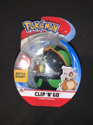 Pokemon Clip 'N' Go - Cubone + Dusk Ball for Sale in Berwyn, IL