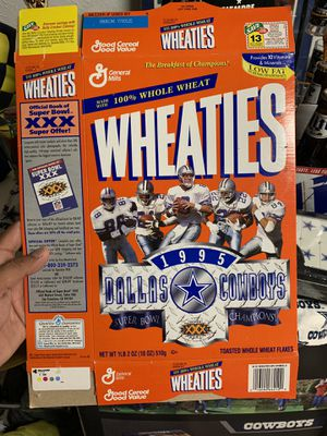Dallas cowboys wheaties cereal box for Sale in Rowlett, TX