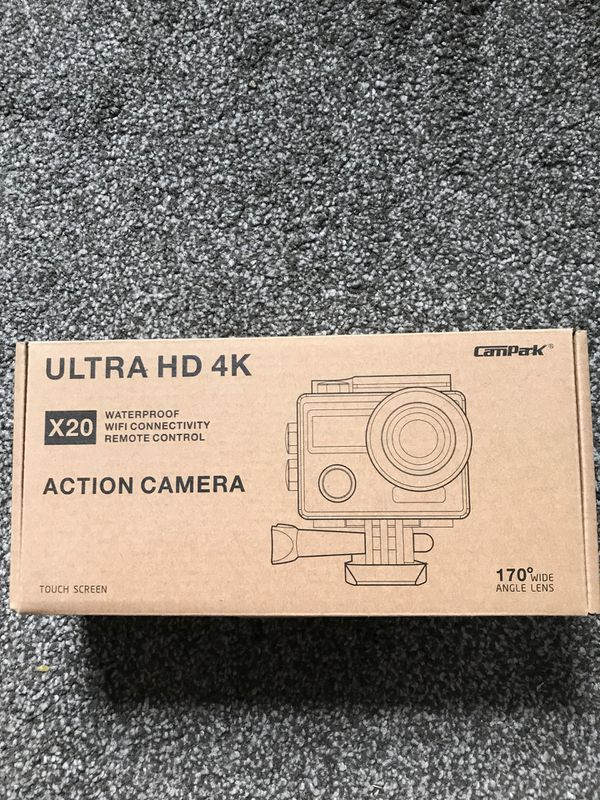Action Camera 4K wide angle lens.