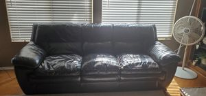 Brown leather sofa and chair for Sale in Hemet, CA