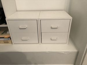 White ClosetMaid Storage Office Closet Drawers for Sale in Corona, CA