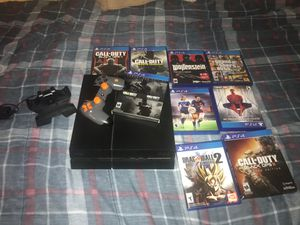 Ps4 500 Gb with controller, cable and bunch of games for Sale in Miami, FL