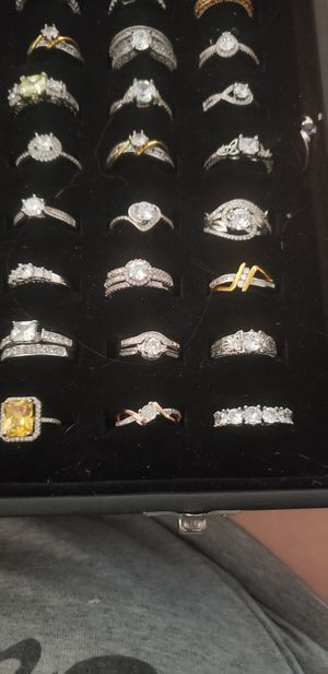 Ladies wedding rings and rings sterling silver for Sale in Hanford, CA