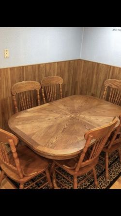 Table and six chairs for Sale in Snohomish,  WA