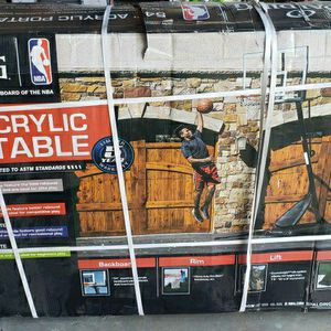 "54"" Acrylic Basketball Hoop for Sale in Bakersfield, CA"