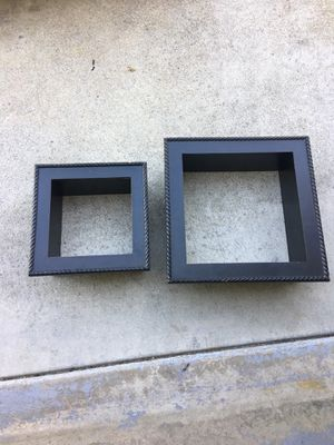 2 pc square wall shelves for Sale in Oakley, CA