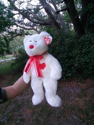 Collectible TY white bear with heart for Sale in Orlando, FL