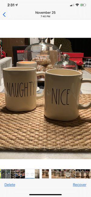 Rae Dunn Naughty and Nice mug set for Sale in Brooklyn, NY