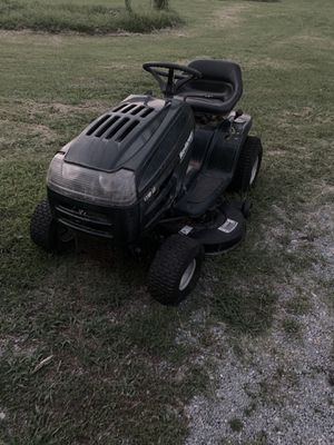 Yard Machine 42 inch deck and it has a Briggs and Stratton 17 hp twin cylinder!!! Runs and cuts great, only thing is that it needs new tires , can fi for Sale in Kinston, NC