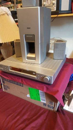 RCA DVD player with three speakers and a woofer for Sale in Denver, CO