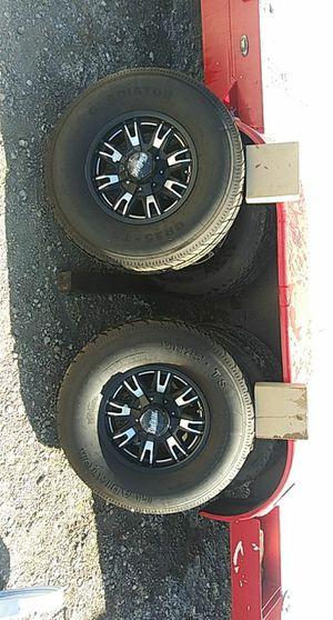 6 gladitator. Trailer rims and tires for Sale in Menifee, CA