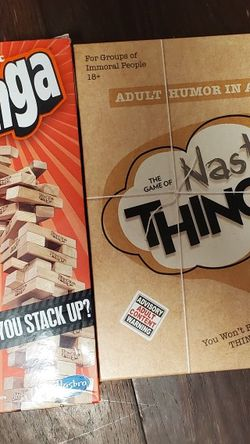 Jenga, Nasty Things. for Sale in Fremont,  CA