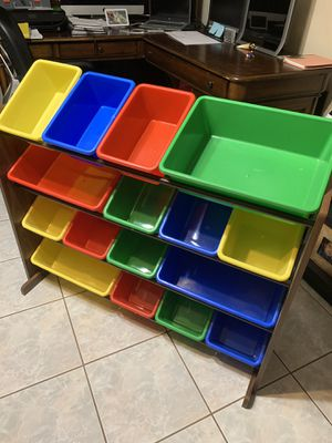 Kids toys storage bins rack for Sale in Hollywood, FL