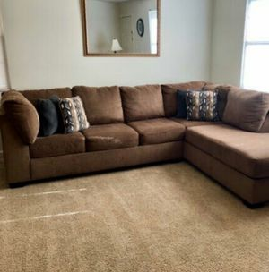 Can Deliver Brown 2 Piece Sectional Sofa Couch for Sale in Fort Worth, TX