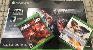 Xbox One X 1TB Star Wars Jedi: Fallen Order Deluxe Edition Console Bundle W/NBA2K20 & Overwatch for Sale in Cleveland, OH