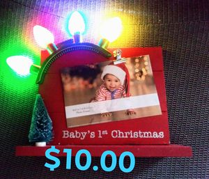 Light up babes 1st Christmas picture frame for Sale in Abilene, TX