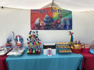Trolls Happy Birthday banner for Sale in Lincoln Acres, CA
