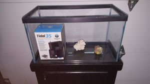 10gal fish tank with stand and filter for Sale in Rancho Cucamonga, CA