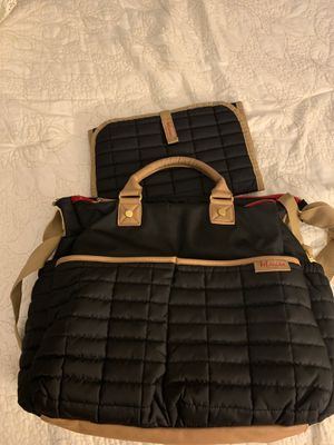 Maman Diaper Bag Black NWT Matching Changing Pad for Sale in Upper Freehold, NJ