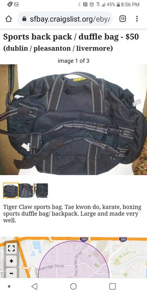 Sports backpack duffle bag for Sale in Pleasanton, CA