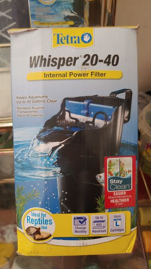 20-40gallon whisper internal filter used ince but switched tanks for Sale in Lorain, OH