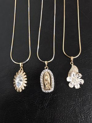 Gold plated pendant with chain ($10 each) for Sale in Philadelphia, PA