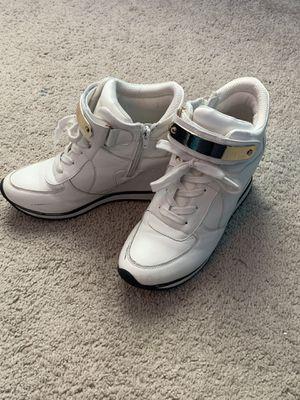 Size 7.5 White Sneaker Heels for Sale in Fayetteville, NC
