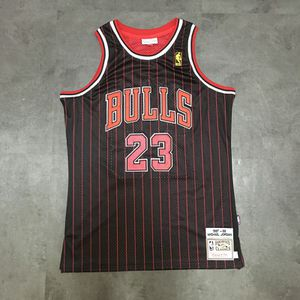Michael Jordan - Chicago Bulls Jersey - #23 Black/Red Pinstripe - Size Medium for Sale in Westminster, CA