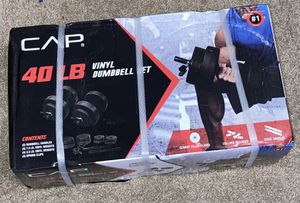 Brand new 40LB VINYL Dumbbell set for Sale in Puyallup, WA