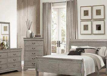 HOT DEAL] Louis Philip Gray Sleigh Bedroom Set by Crown Mark for Sale in Arlington,  VA