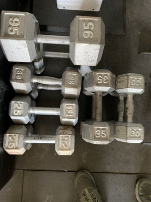 Hex dumbbell pairs for Sale in Parker, CO