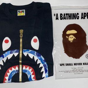 Bape Shark Face Blue Camo T-Shirt! for Sale in Lake Oswego, OR