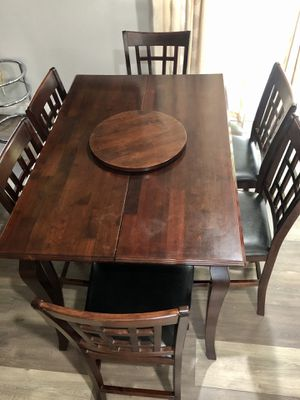 High counter dining table set 6 chairs for Sale in Murrieta, CA