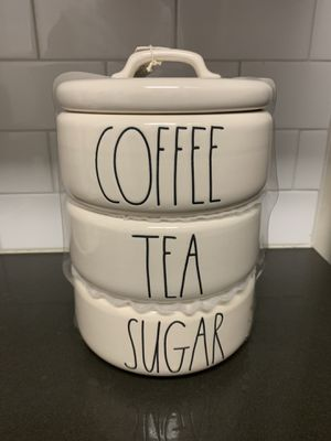 Rae Dunn Coffee/Tea/Sugar Stackable Canister for Sale for sale  West Covina, CA