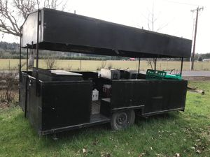 Cook/concession trailer. Built in freezer that works, huge 3 burner grill, 1 sink and 2 warmers .. 4000.00 FIRM... for Sale in Molalla, OR
