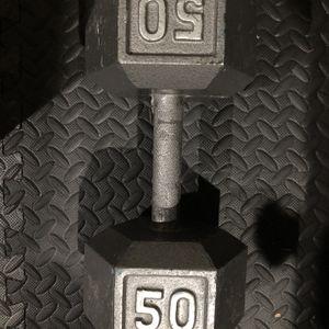Single 50lb Dumbbell for Sale in Beaverton, OR