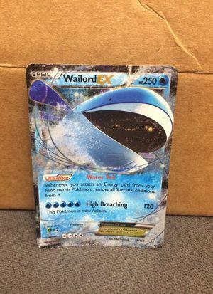 Wailord EX pokemon card for Sale in Redmond, WA