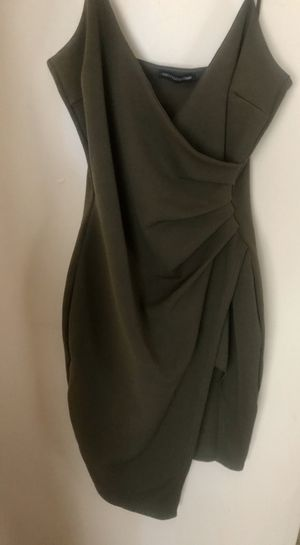 Pretty Little Thing Khaki Wrap Front Crepe Midi Dress for Sale in Hilliard, OH