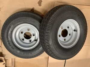 Trailer tire and rims 5.70x8 set of two for Sale in Bell Gardens, CA