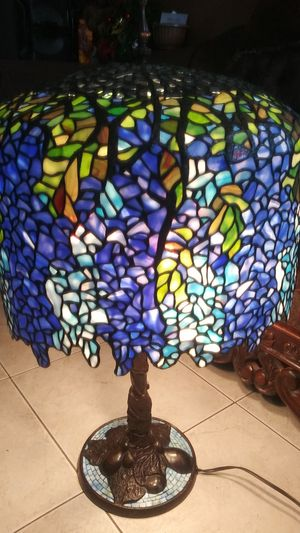 Antique lamp made out of pure pieces glass beautiful colors!!! for Sale in Lynwood, CA