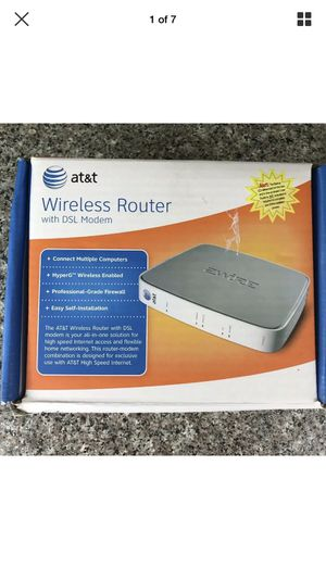 AT&T Wireless Router with DSL Modem 2Wire - Use w/ AT&T High Speed Internet EUC for Sale in Hazelwood, MO