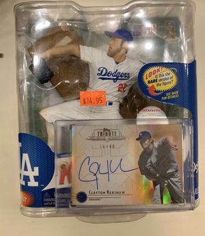 Clayton Kershaw Auto Card With Figure for Sale in Moreno Valley, CA