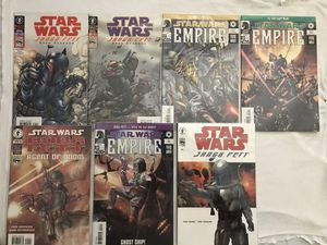 Dark Horse 7 Star Wars Comics Like New All For $20. Second Pic Dc Comics For $10 for Sale in Reedley, CA