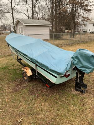 14' Aluminum DuraNautic Boat PRICE DROP! 9.8hp Mercury Motor and Trailer for Sale in Bridgewater Township, NJ