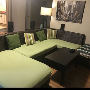 Wicker Sectional Couch for Sale in Sherwood, OR