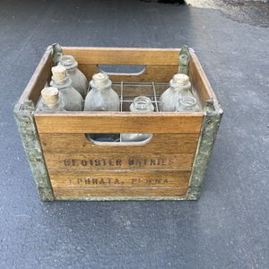 Milk Crate With Old Bottles for Sale in Campbell, CA