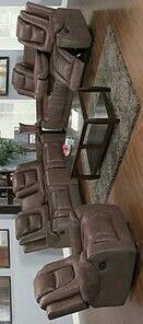 Galaxy 3pc Reclining Living Room Set Brown for Sale in Houston, TX