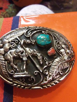 Indian sitting on horse Indian belt buckle for Sale in Oklahoma City, OK